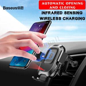 Baseus-Infrarot-Sensor-Auto-Qi-Wirless-Ladegeraet-Automatisch-Handy-Halterung-DE