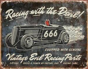 Vintage-Evil-Racing-Rustic-Retro-Tin-Metal-Sign-13-x-16in