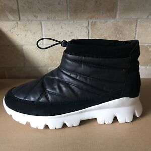 77d97797470 Details about UGG CENTARA WATERPROOF BLACK QUILTED SNOW ANKLE BOOTS BOOTIES  SIZE 7 WOMENS