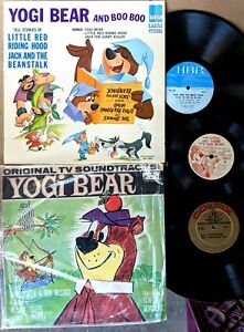 YOGI-BEAR-record-lot-TV-Soundtracks-amp-Stories-LPs-and-Motion-Picture-7-inch-EP