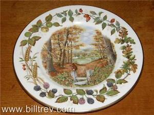 Coalport-Collectors-Plate-Woodland-Season-Autumn-Ramble