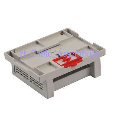 Industrial plastic instrument shell din-rail /PLC Enclosure box case 110x90x40mm