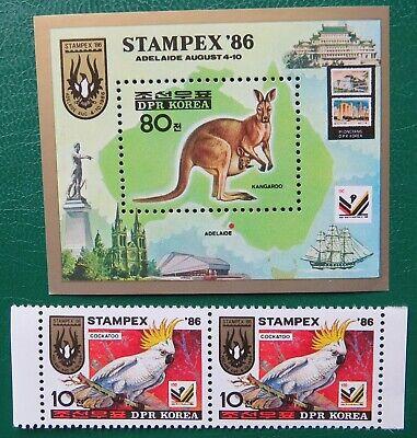 2 Stamps Sc 2586 Korea 1986 Stampex '86 Adelaide S/s Mnh Zu Verkaufen