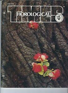 MF-075 - Horological Times July 1979, Ships Chronometer Rock Quarry Clock Repair