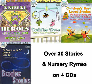 Collection-of-CHILDREN-039-S-AUDIO-BOOKS-on-4-CDs-Toddler-Kids-Stories-amp-Poems-NEW