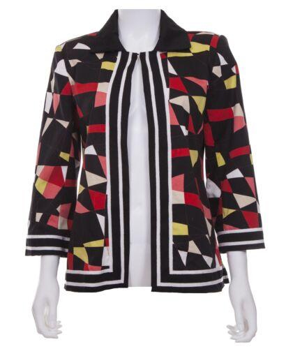 Costa Trykt Multicolor Vintage Størrelse Jacket Cotton Victor Xs Geometrisk pnqwxT4f