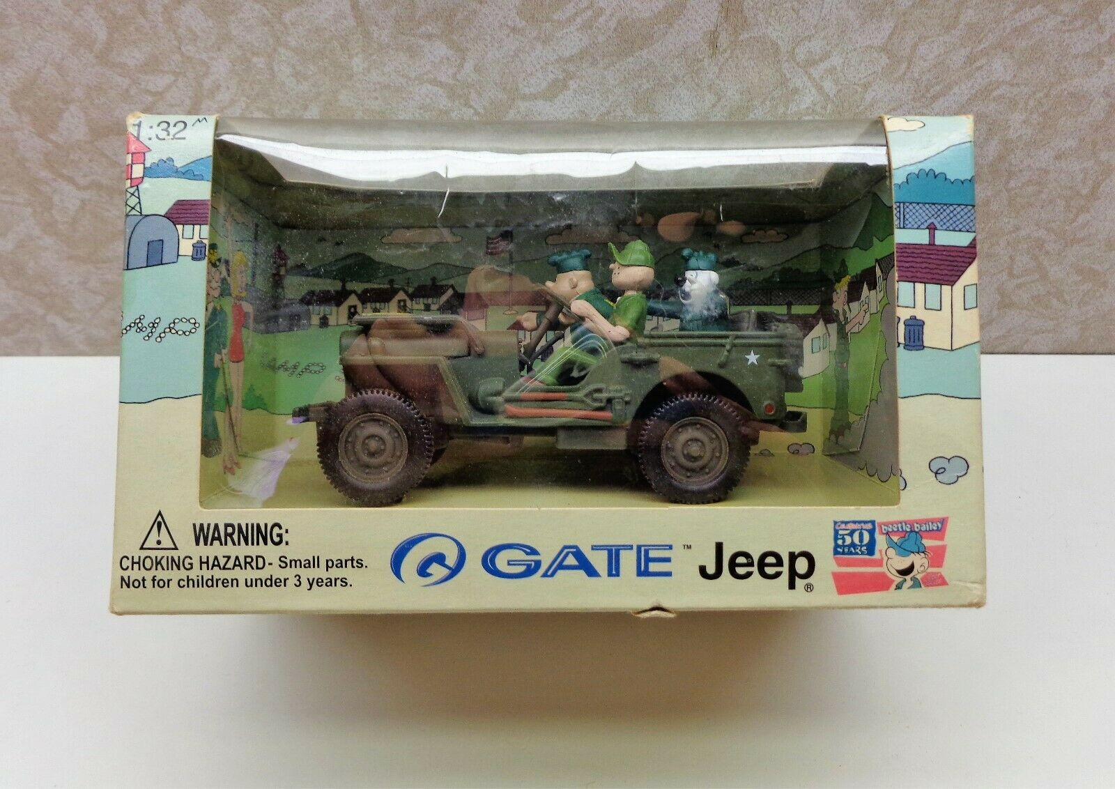 GATE-MODELS BEETLE BAILEY IN JEEP ADVENTURES 1 32 SCALE TOY  NEW IN THE BOX