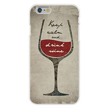 Keep Calm and Drink Wine Half Full Glass FITS iPhone 6+ Plastic Snap On Case New