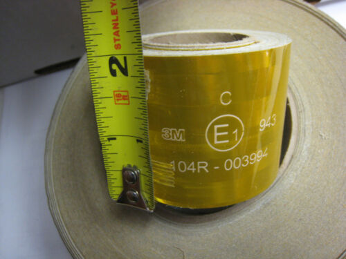 "3M BRAND # 943 GOLD FLEXIBLE Reflective Grade Conspicuity  Tape 2/"" x 25 feet"