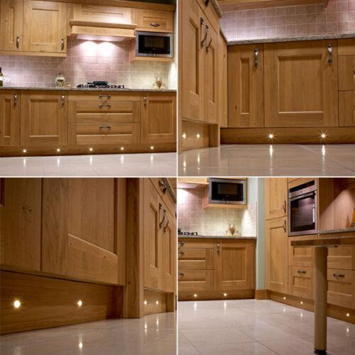 30MM LED DECKING LIGHTS PLINTH DECK LIGHTING BATHROOM KITCHEN GARDEN WARM WHITE
