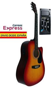 Guitarra-Electro-Acustica-Color-Sunburst-Nueva-Electroacustica-Amplificada-EQ