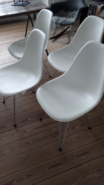 Eames, stol, Eames Plastic Chair, DSR, 4 stk. Eames…
