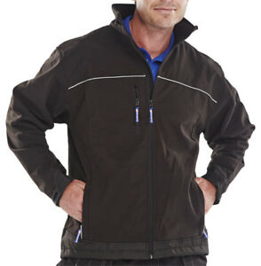 Click-Black-Work-Soft-Shell-Jacket-Water-Resistant-Windproof-Breathable-XS-6XL