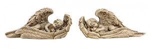 Engel-in-Fluegel-Hund-oder-Katze-24-cm-Grabschmuck-Grabdeko-Grabstein-Gedenkstein