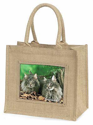 Norwegische Waldkatze Katzen  Soulmates  Große natürliche jute-einkaufstasche