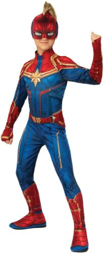 Girls Classic Captain Marvel Hero Avengers End Game Fancy Dress Costume Outfit