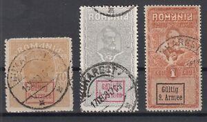 B2575-ROMANIA-GERMAN-OCC-MI-P1-P5-P7-USED-CV-200