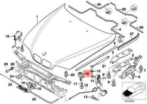 genuine bmw e39 sedan wagon hood lock oem 51238176594 ebay