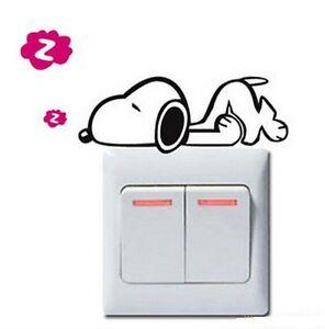FD840-Cartoon-Dog-Style-Light-Switch-Funny-Wall-Decal-Vinyl-Stickers-DIY-1pc