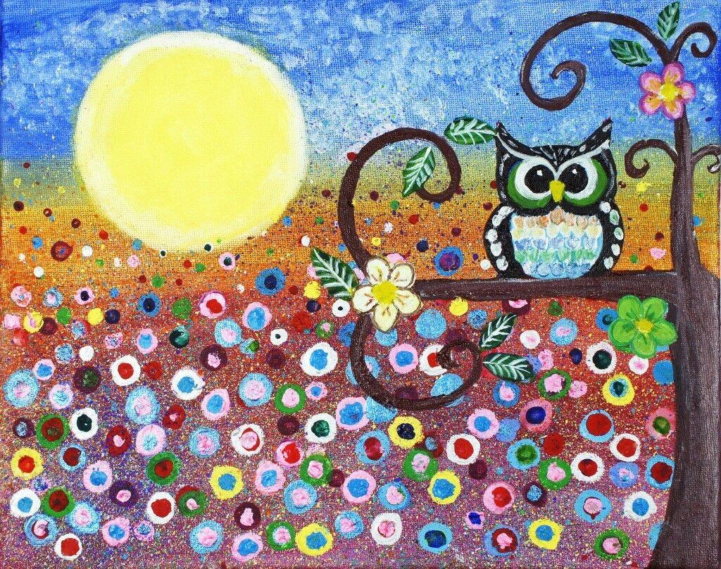 3D Gemalter Malerei Eule Eule Eule 8445 Tapete Wandgemälde Tapeten Bild Familie DE Lemon | Won hoch geschätzt und weithin vertraut im in- und Ausland vertraut  | Export  |  c4b799
