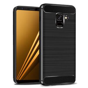 Coque-Silicone-Souple-Fibre-de-Carbone-Brosse-Samsung-Galaxy-A8-2018-A530F-5-6