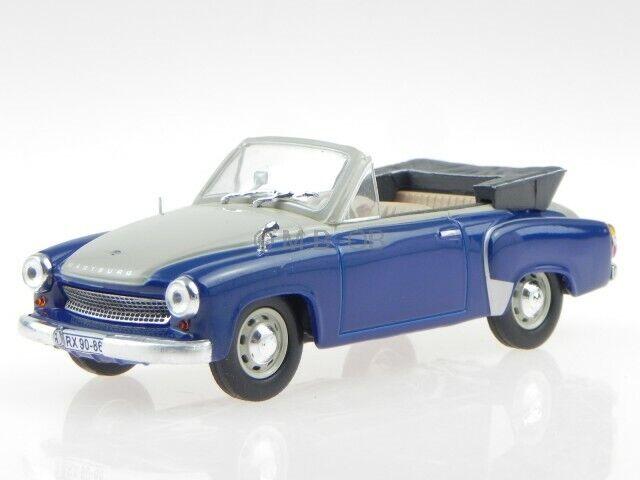 Wartburg 311-2 Cabrio blau creme DDR Ostalgie deluxe Modellauto 1:43