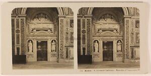 Italia Roma Eglise San Giovanni di Laterano c1905 Foto Stereo Vintage Analogica