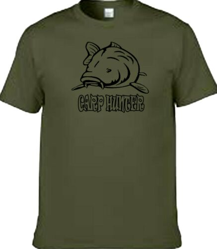 Fishing carp hunter carp fishing t shirt with or without your name