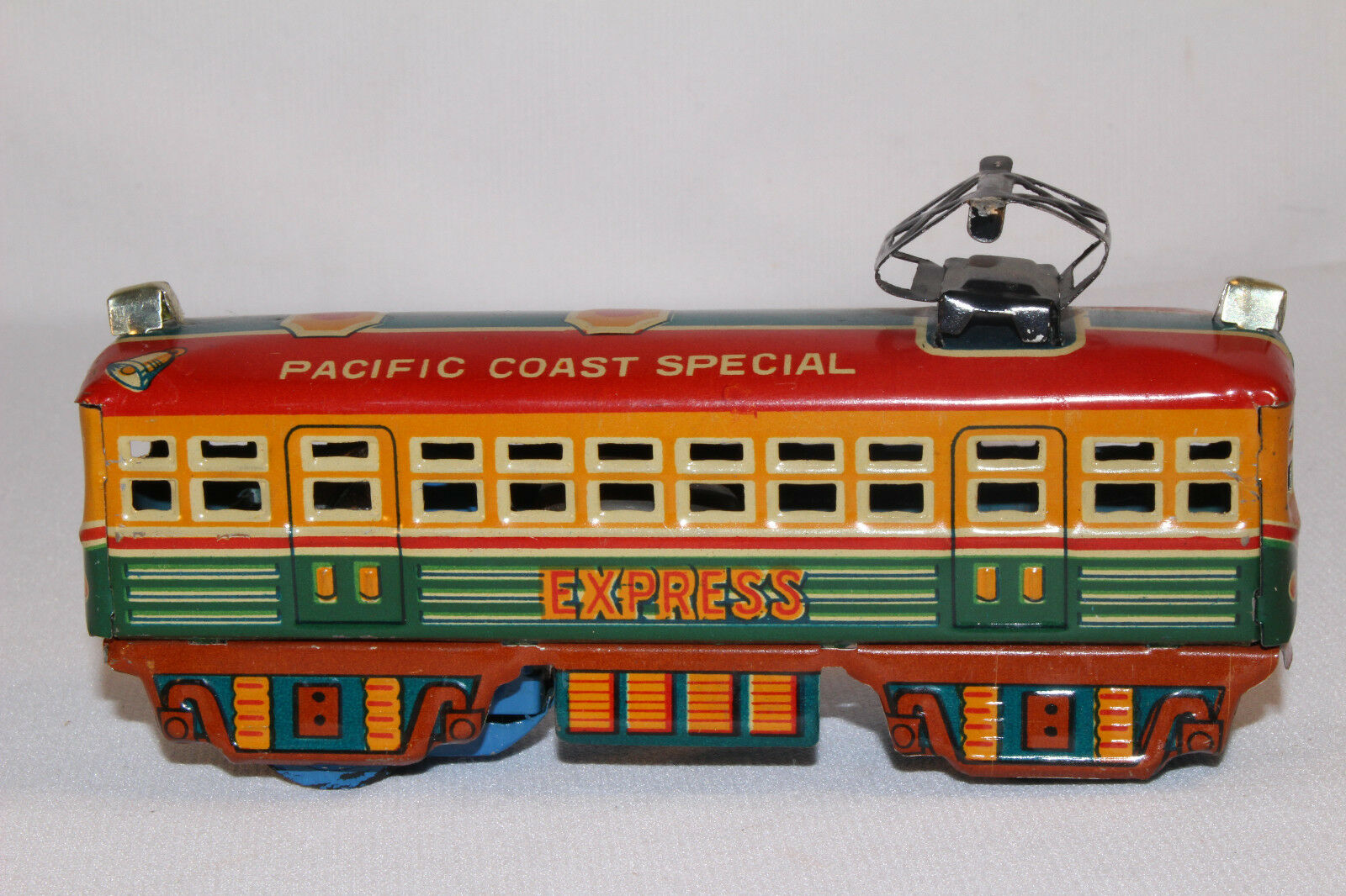 1950's Made in Japan Pacific Coast Special Special Train Steet Car, Nice Original