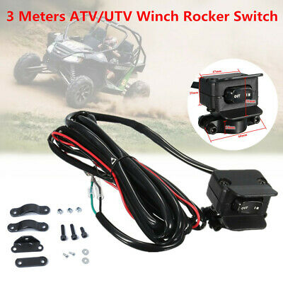 New 3M ATV//UTV Winch Rocker Switch Handlebar Control Line Warn Accessories