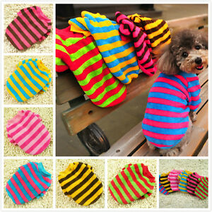 Striped-Winter-Cat-Dog-Sweater-Clothes-Small-Pet-Poodle-Coat-Hoodie-Warm-Jumper