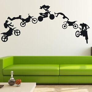 motocross motor bike wall decor removable home vinyl decal sticker diy mural ebay