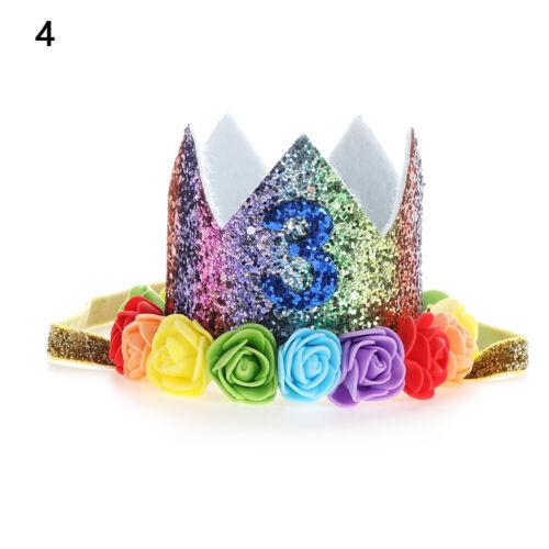 Hair Band Elastic Headwear Princess Rainbow Crown Baby Headband Birthday Hat