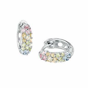 Details zu Prinzessin Lillifee Mädchen Creolen Rainbow bunte Zirkonia Steine Silber 925