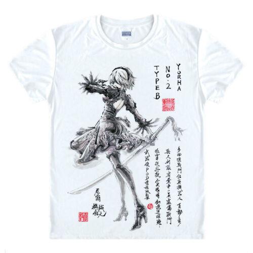 Automata YoRHa No.2 Type B Unisex Short Sleeve T-Shirt Tops Tee #1 Game NieR