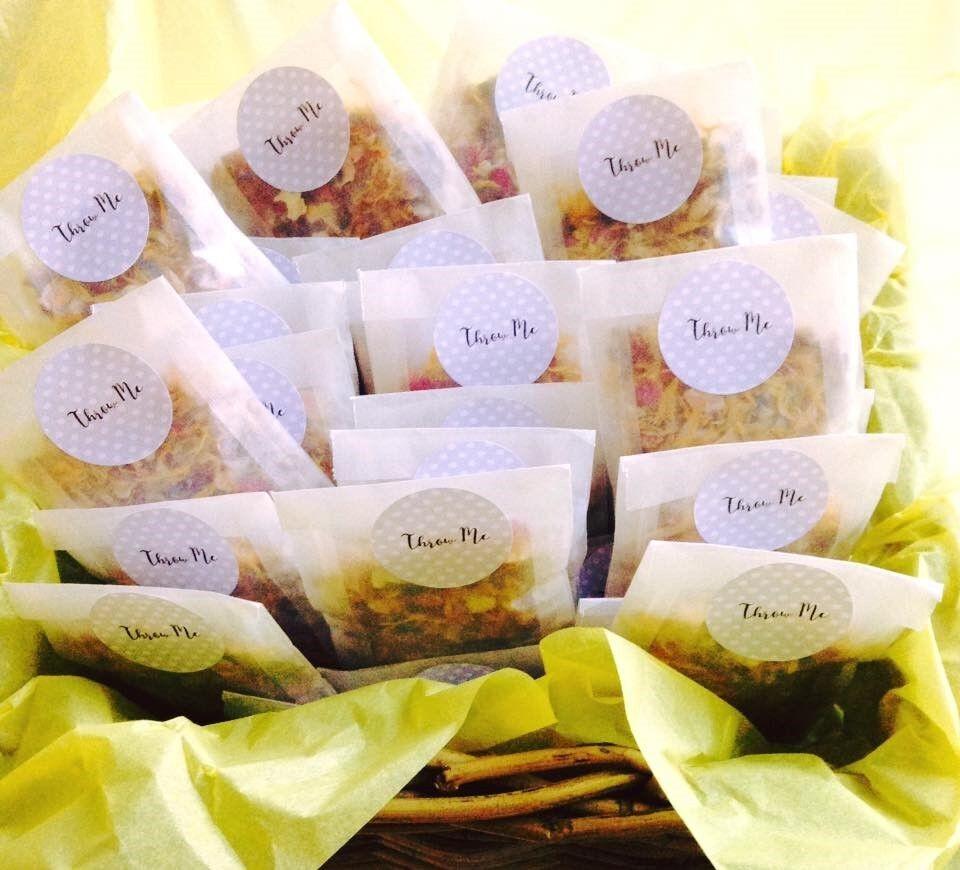 Biodegradable Wedding Flower Confetti Natural Dried Petal 115 Glassine bags