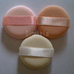 3PCS-FACIAL-FACE-MAKEUP-COSMETIC-FOUNDATION-POWDER-PUFF-SOFT-ROUND-SMALL-SPONGE