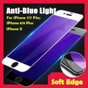 the best attitude 440d2 78662 iPhone 7/8 Plus iPhoneX Soft 3D Anti Blue Light Tempered Glass ...