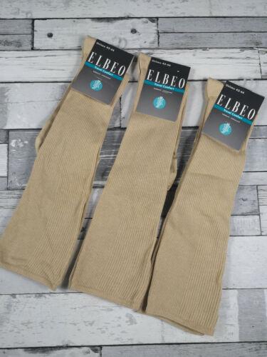 ELBEO 42-44 Lot de 3 paires de chaussettes hautes TRAVEL COMFORT 79/% coton Lin