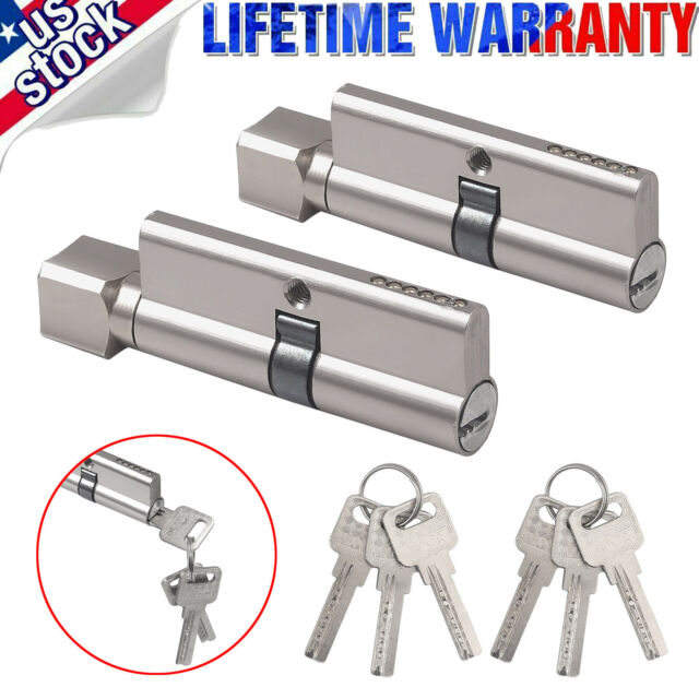 Thumb Turn Cylinder Euro Barrel Door Lock UPVC Pick Anti Drill with 3 Keys Locks