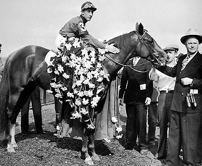 1941 WHIRLAWAY TRIPLE CROWN HORSE RACING 8X10 PHOTO
