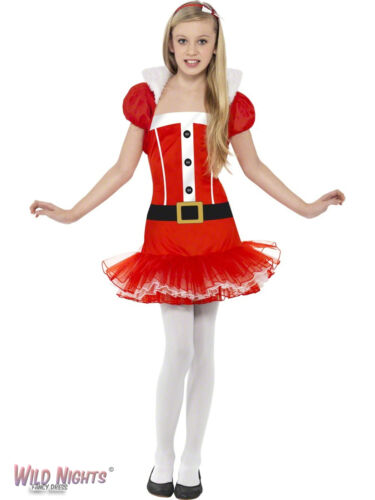 CHRISTMAS FANCY DRESS COSTUME # GIRLS LITTLE MISS SANTA AGE 7-13