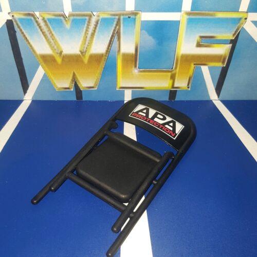 APA Acier Noir Chaise-Mattel-Accessoires pour WWE Wrestling figures