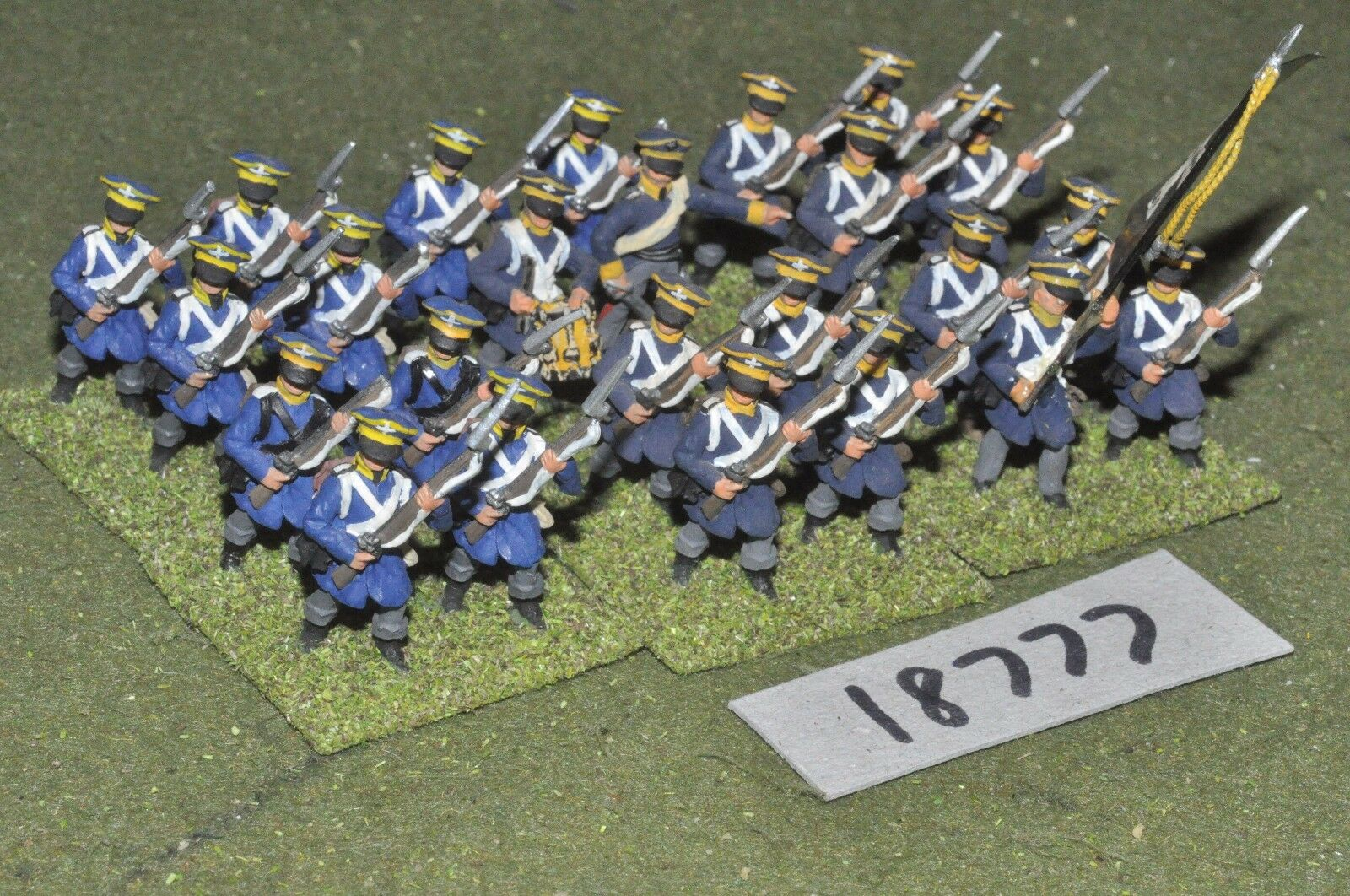 25mm napoleonic   prussian - infantry 24 figs - inf (18777)