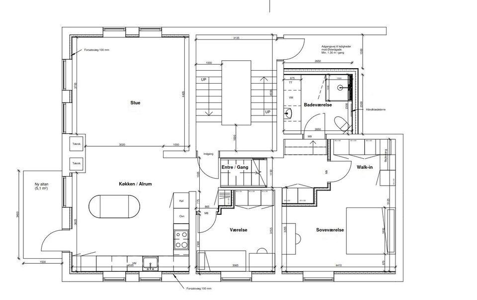 9000 vær. 3 lejlighed, m2 112, Østerågade