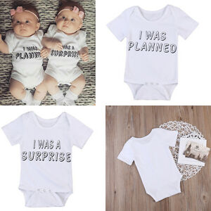 9b6f5ac1740 Image is loading Newborn-Baby-Clothes-Boys-Girls-Rompers-Bodysuits-Matching-