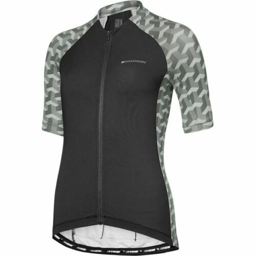 Madison Sportive Ladies Women/'s Cycle Short Sleeves Jersey Black Geo Camo