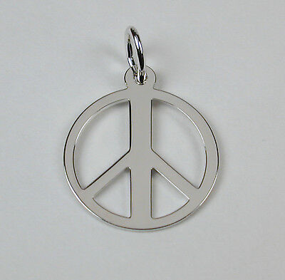 Sterling Silver Yellow Enameled Hand Peace Sign w//Lobster Clasp Charm