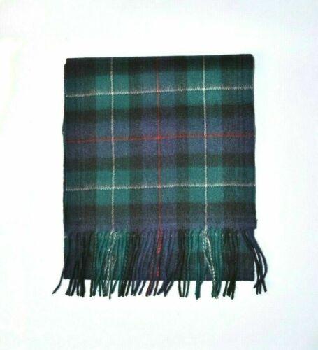 New Scottish 100/% Lambswool of Scotland Scarf Tartan Wool Scarves Mckenzie Green