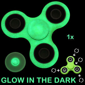 Image Is Loading Fidget Spinner Glow In The Dark Hand Finger